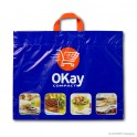 Loop handle carrier bag 'Okay Compact', COEX, white coloured, 65µ, 50 x 41 + 10 cm