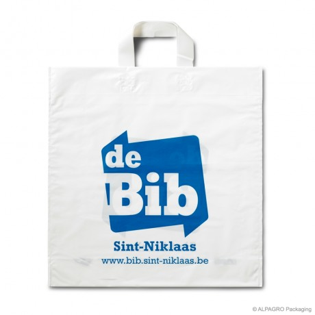 Bio loop handle carrier bags